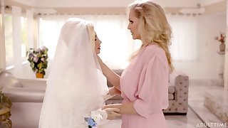 Wild lesbian sex the last straw Julia Ann and Carolina Confectionery before the wedding