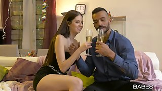 Romantic dinner ends with a good have sex for the shy amateur