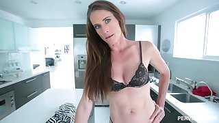 Skinny obscurity babe in a belly button piercing, Sofie Marie is waiting to get a huge blarney