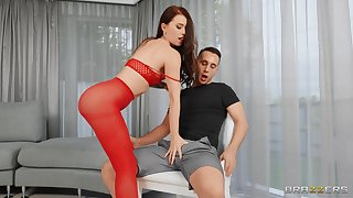 Lovely Misha Substandard semblance so hot in red-hot as A she buries a dick deep