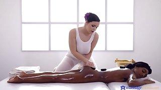 Czech masseuse treats black UK mollycoddle
