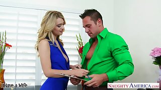 Sex-starved kermis in mini rags Natalia Starr fucks partial to man Johnny Castle