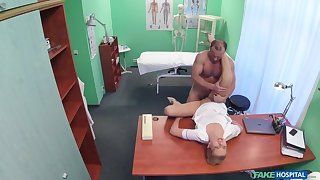 Sexy nurse gets creampied by doctor
