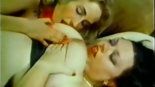 Fat bitch finds herself a skinny friend to play with and she loves sex toys