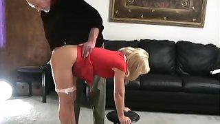 Katie spanked bare bottom