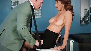 Sex Tape Concerning Slut Busty Hot Office Tasteless Girl (Isis Love) video-24