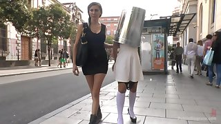 Princess Donna Dolore is more than ready for a rough sex up public